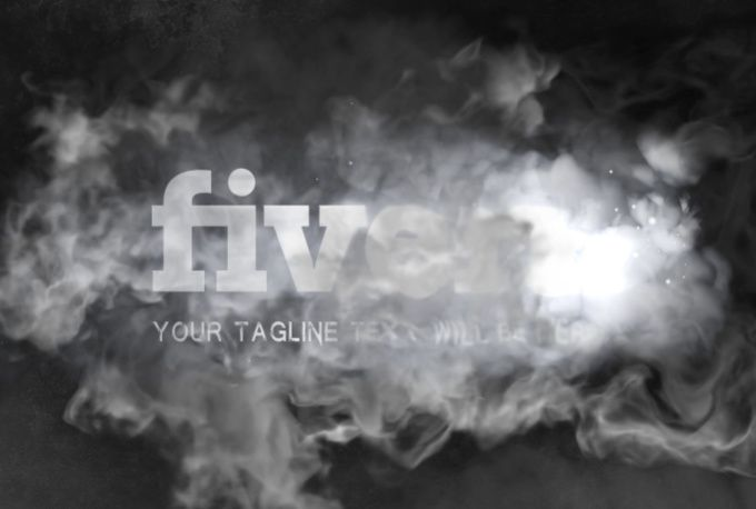 make cool smoke video intro logo animation by karnakzed