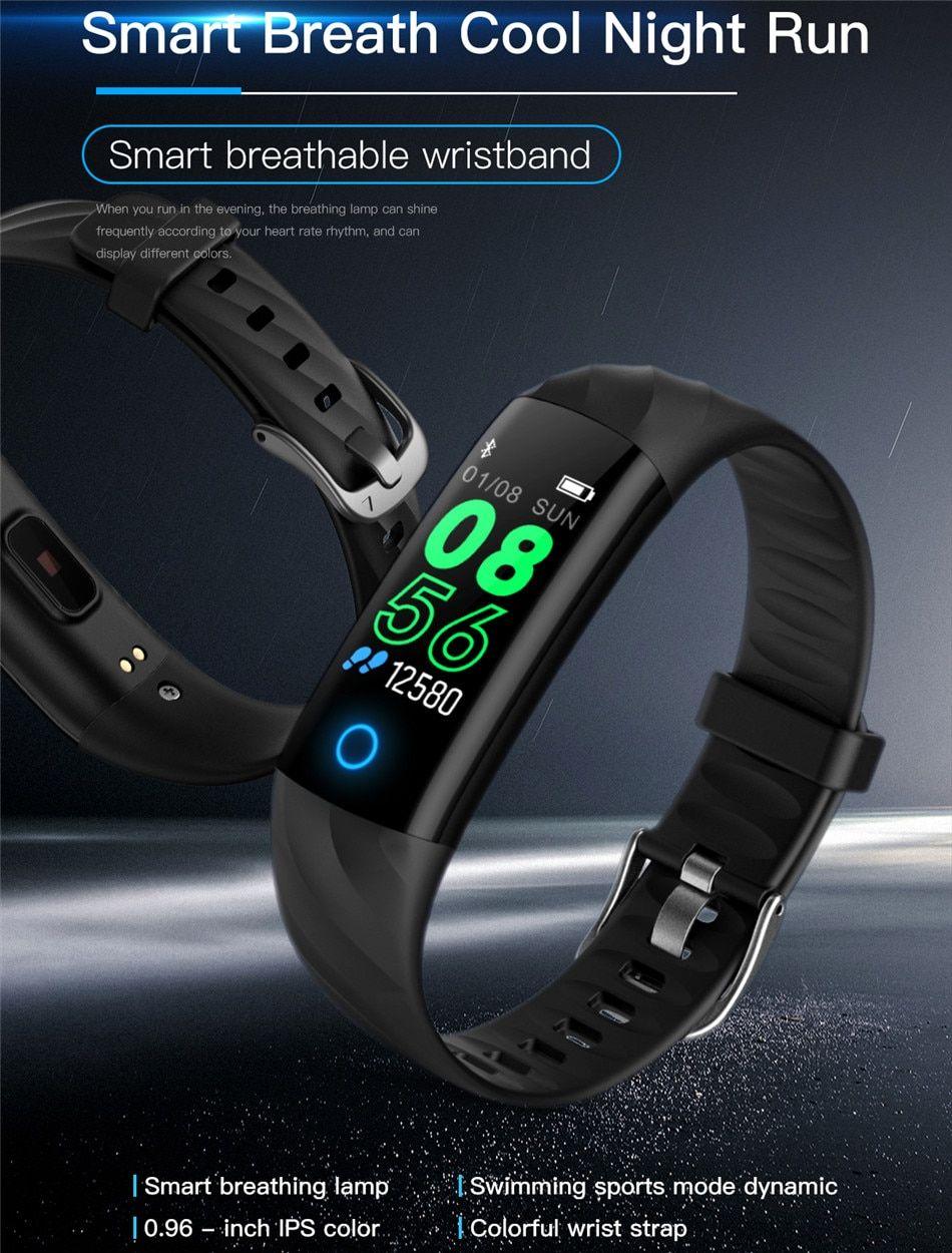 Bangwei New Smart Watch Men Women Watch Sport Led Touch Screen Blood Pressure Heart Rate Monitor Fitness Tracker Smart Watch+box Watches