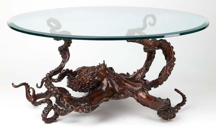 My Bronze Of An Octopus As A Coffee Table Octopus Coffee