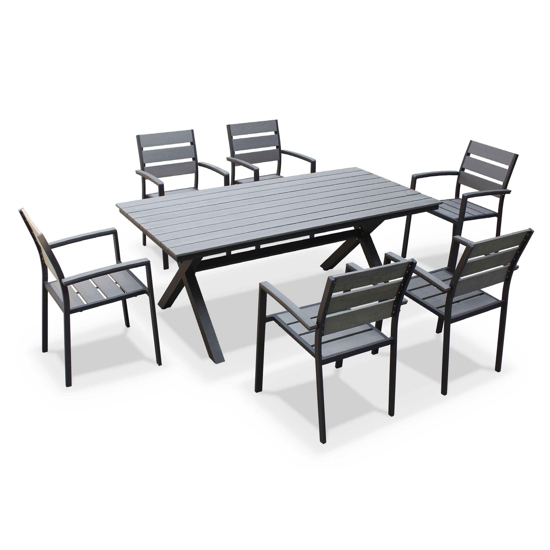 Salon de Jardin Lunch Table + 2 Canapés 2 Places + 4 Poufs | Jardins