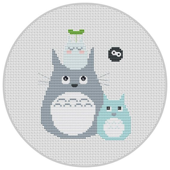 Totoro Cross Stitch Pattern PDF My Neighbour Totoro Nursery decor ...