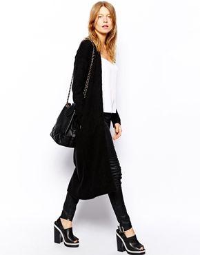 Enlarge ASOS Fluffy Cardigan In Midi Length | Ladies Knitwear ...