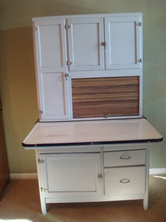 antique Hoosier cupboard..Granny had one of these in the ...