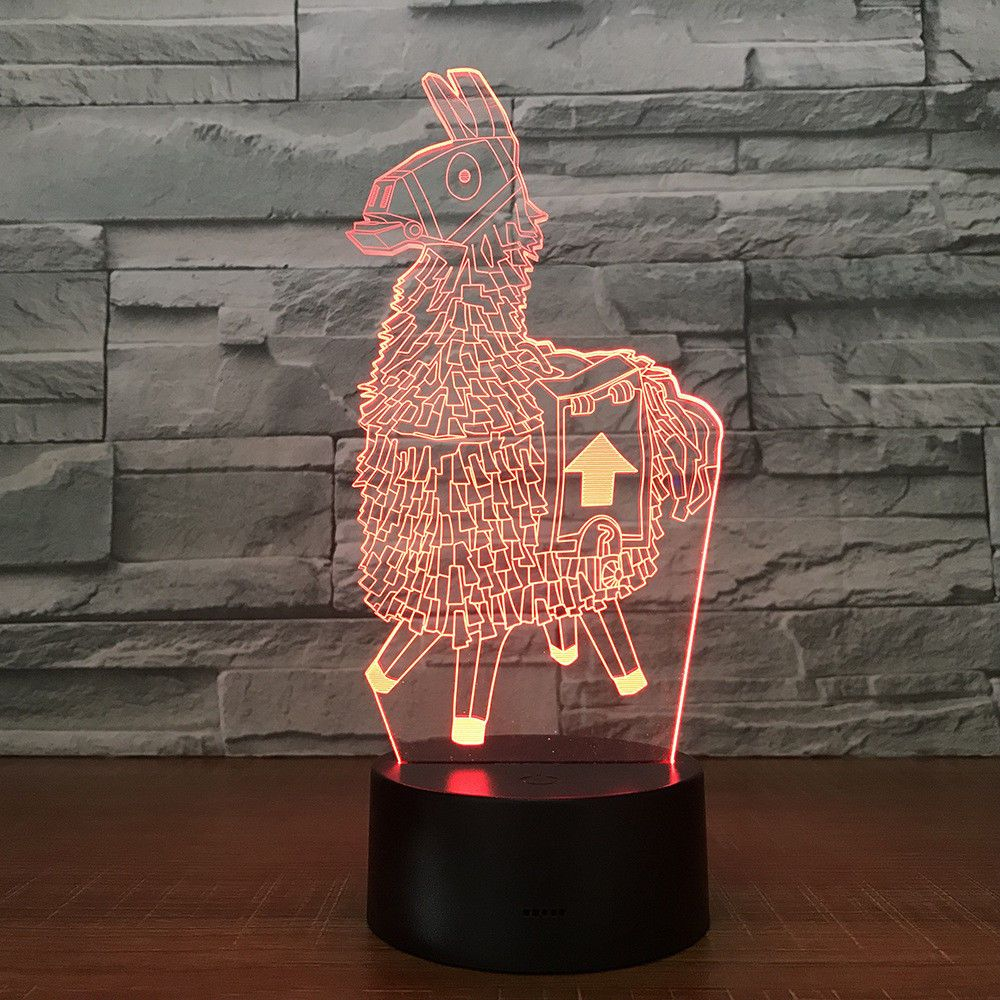 Fortnite Souvenir Gift 7 Colors Touch Table Desk Light 3d Led Lava Lamp Acrylic 3d Led Night Light Touch Lamp Led Night Light