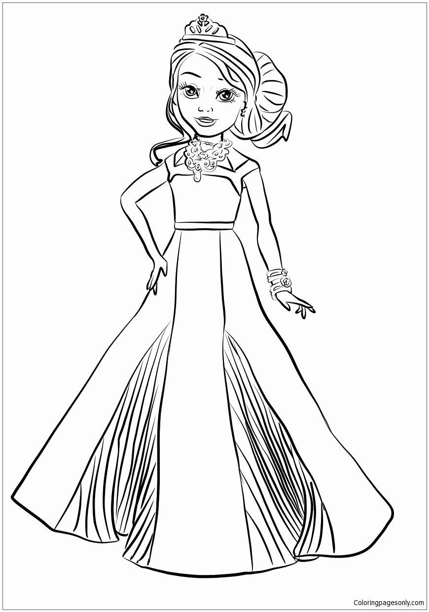 Disney Descendants Coloring Pages For Kids Meninas Colorir Arvore De Natal