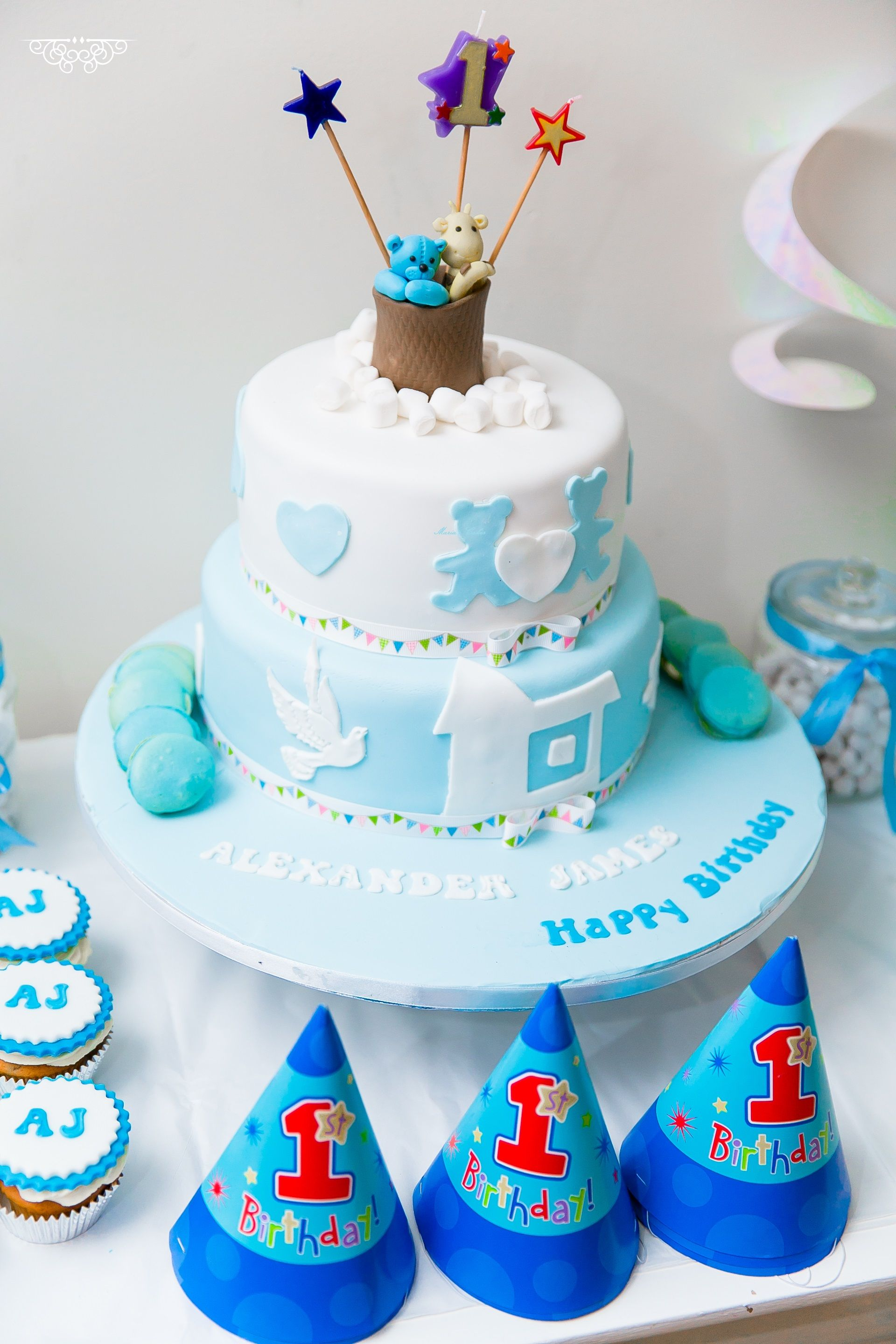 Birthday Cake Ideas For Baby S First Birthday : 1st Baby Boy Birthday Cake Cake Ideas by Maria s Cakes ...