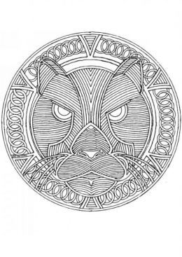 Circular Mandala Kids Coloring Pages With Free Colouring Pictures To