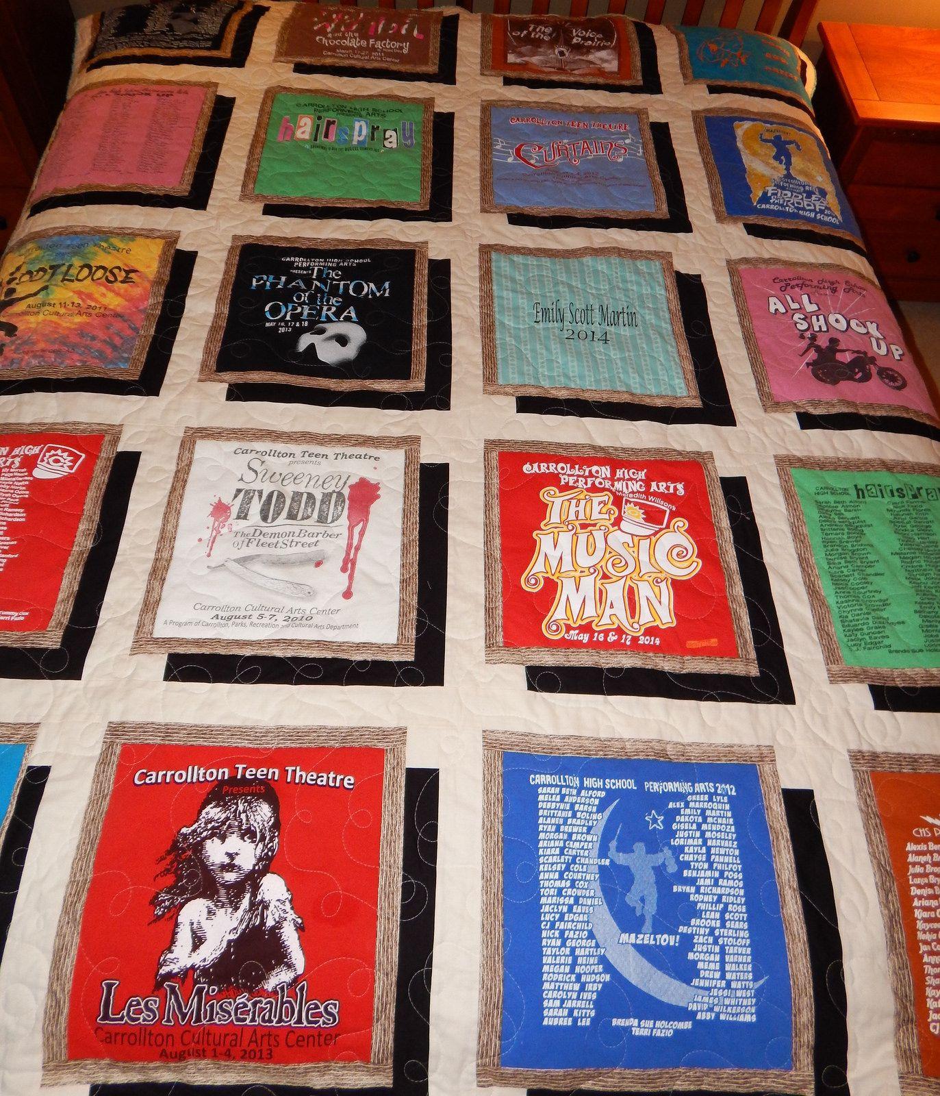Drop shadow tshirt quilt tshirt quilt pattern tshirt