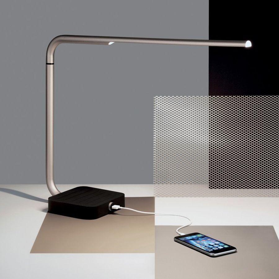 Lampe de bureau Yari LED + chargeur USB | Luminaires | Pinterest