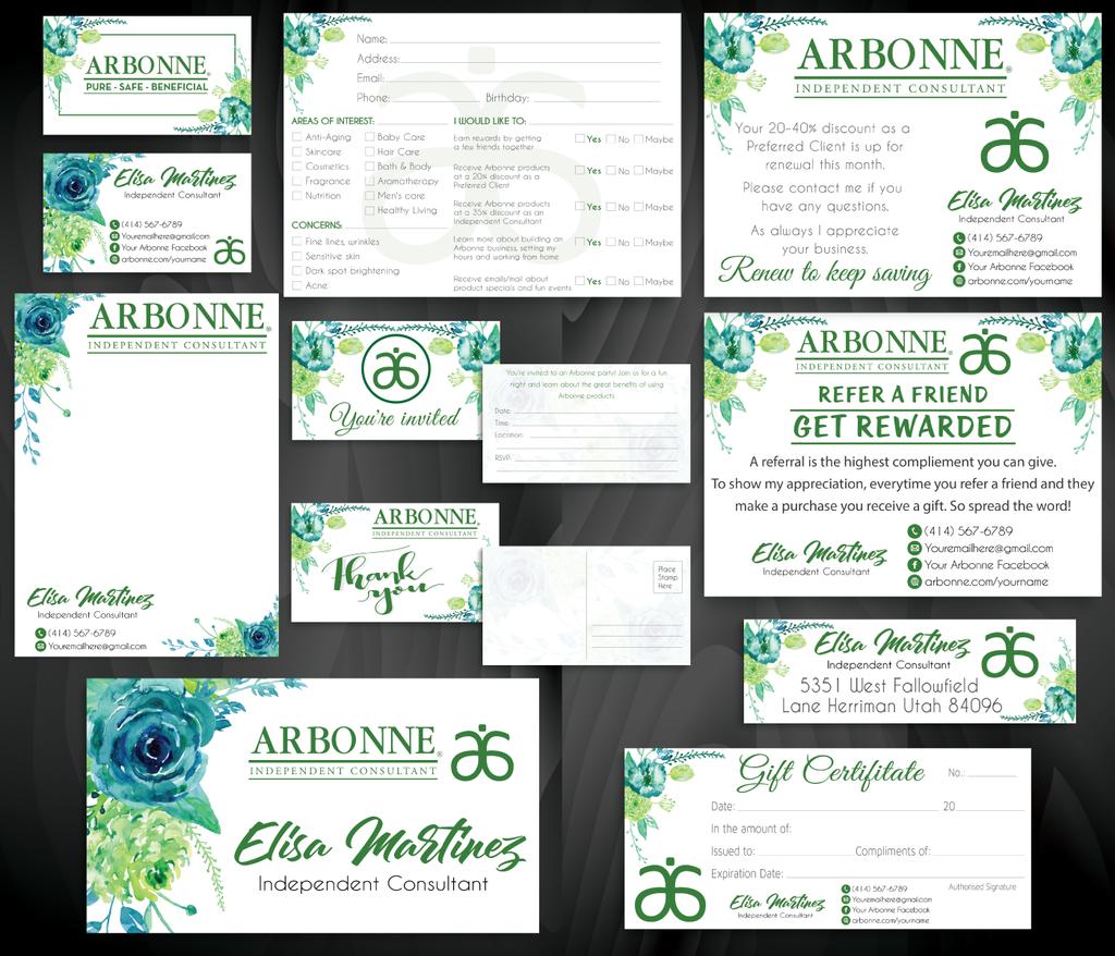 Arbonne Business Cards Personalized Arbonne Cards Ab89 Arbonne Business Cards Arbonne Business Modern Business Cards