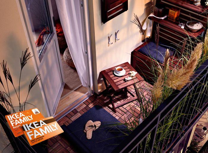 Balkon Mit PLATTA Bodenrost Von IKEA Sommer Du Kannst Kommen