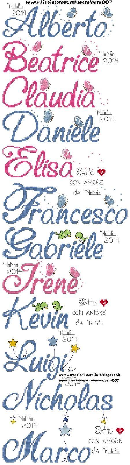 Alberto, Beatrice, Claudia, Daniele, ELisa, Francesco, Gabriele ...