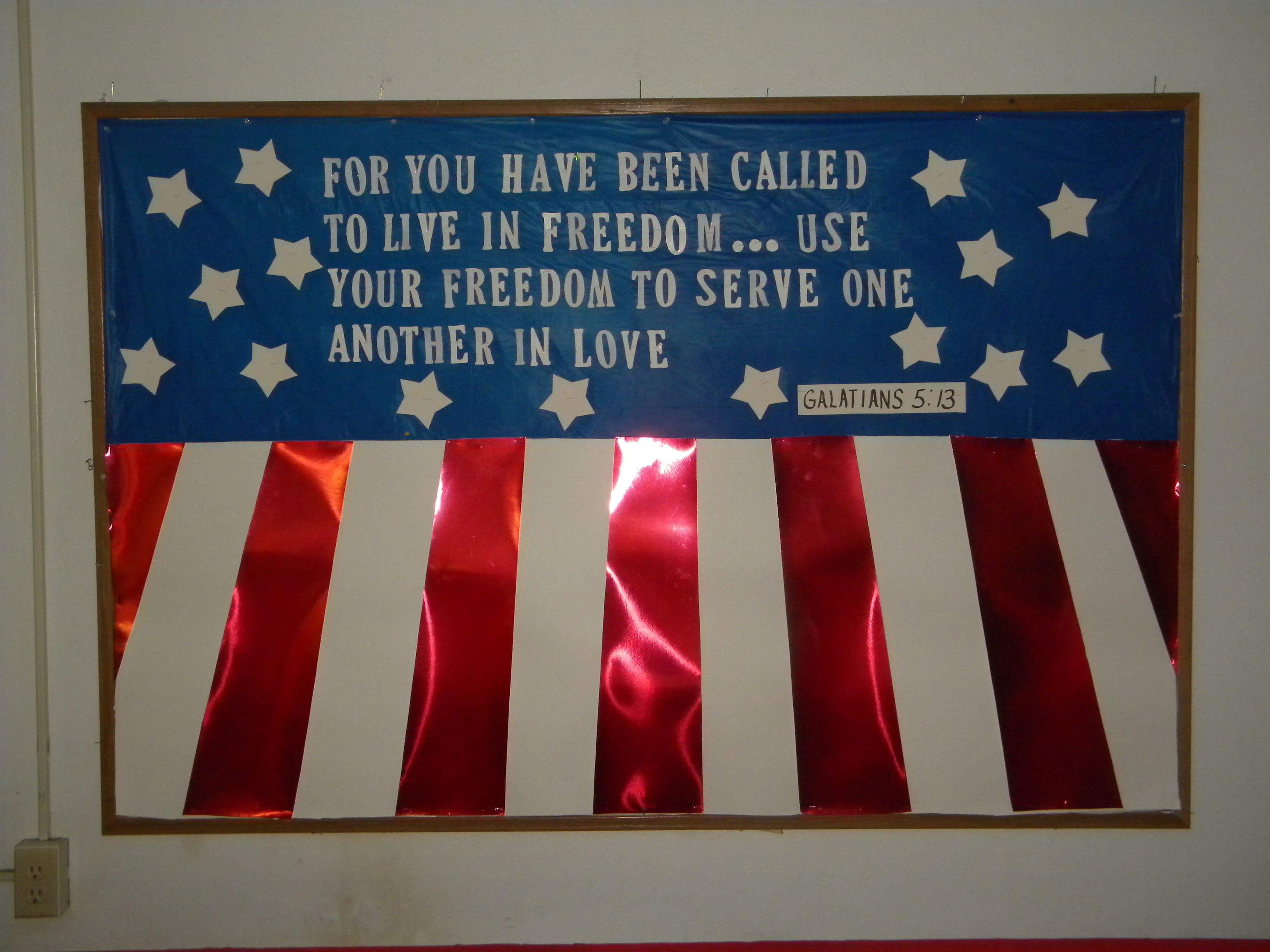 4th Of July Bulletin Board For Fcc Christian Bulletin Boards Bible Bulletin Boards Summer