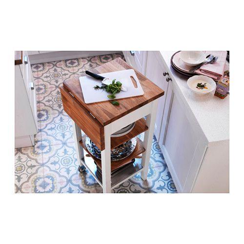 Stenstorp Kitchen Trolley White Oak