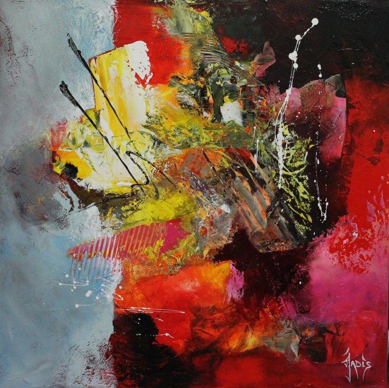 Jadis artiste peintre abstrait abstract pinterest for Artiste art abstrait