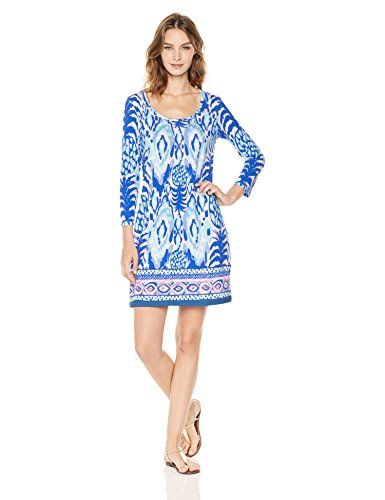a2b860ed0f Lilly Pulitzer Women s Beacon Dress Tropi Call Me Color  Serene Blue  Tropics Call Me 100% Cotton Imported Machine Wash Printed Classic lily  style Affiliate