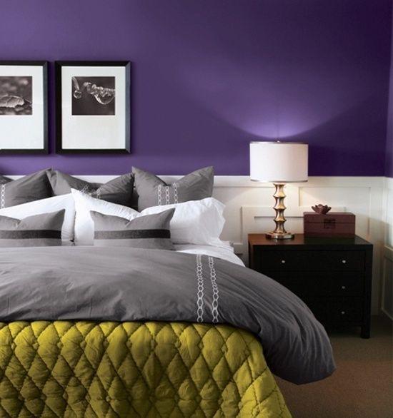 Grey Bedroom Ideas With Purple