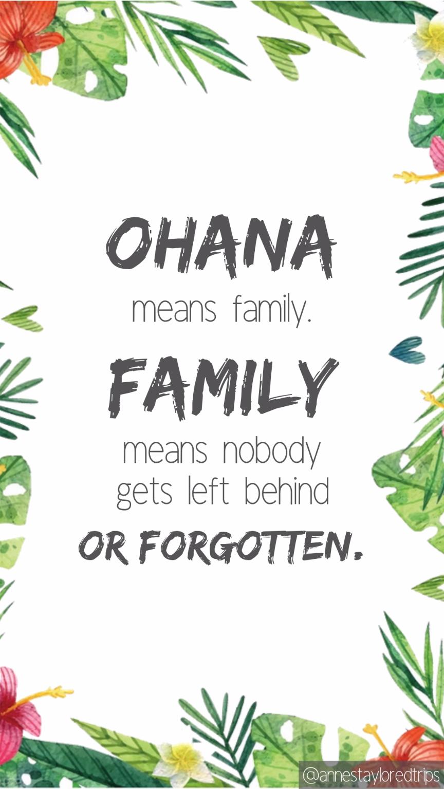 Disney Quote, Lilo and Stitch Quote, Ohana