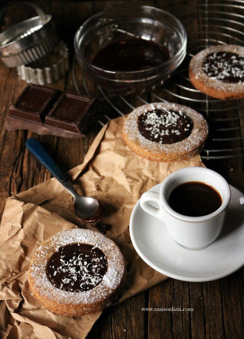 Pasta frolla al caffè con ganache al cioccolato Ganache