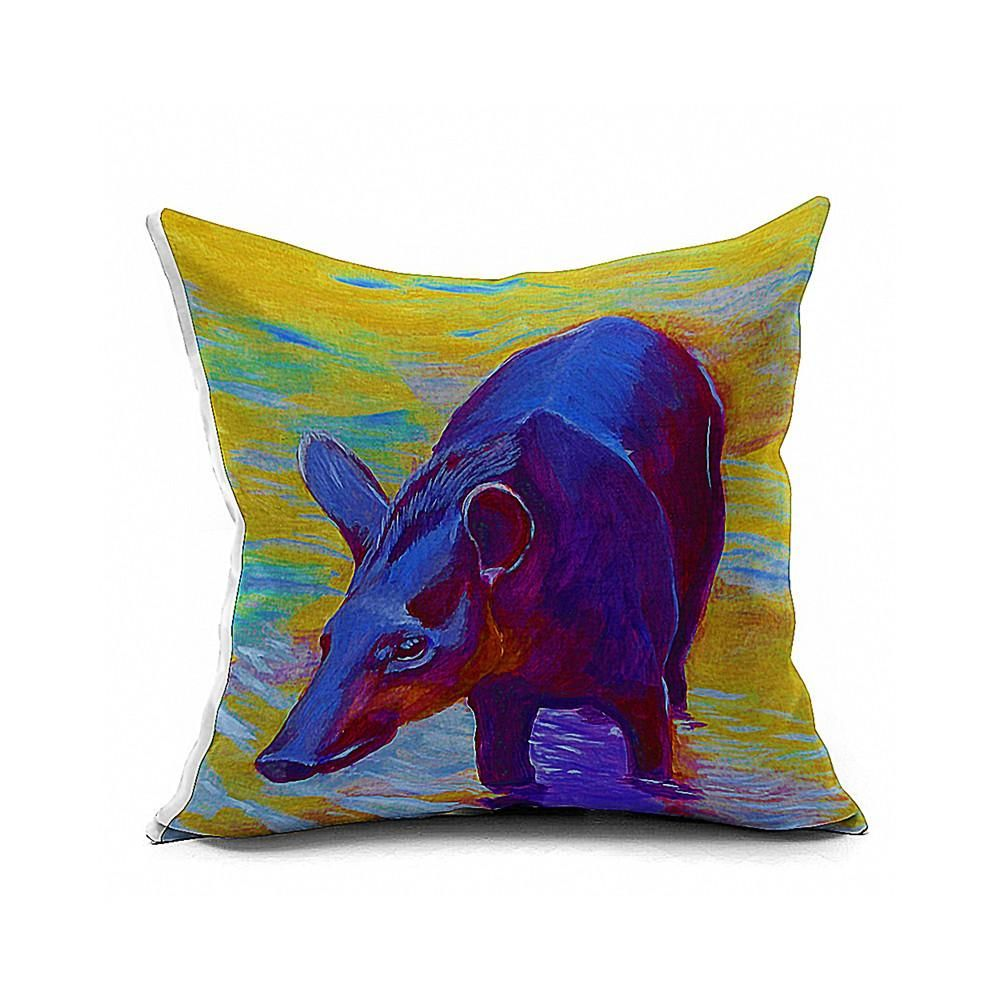 Cotton Flax Pillow Cushion Cover Animal   DW133 - 6PS