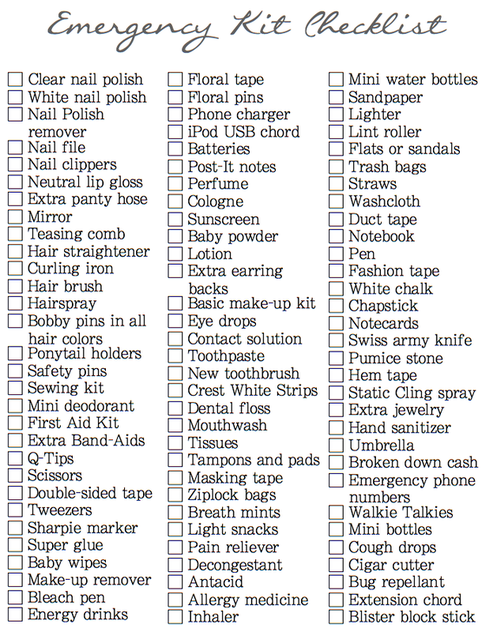 I Ve Made So Many Wedding Emergency Kits In The Past But This Very Detailed Checklist Will Be Handy Prepping For Our Day And Any Other E Kit