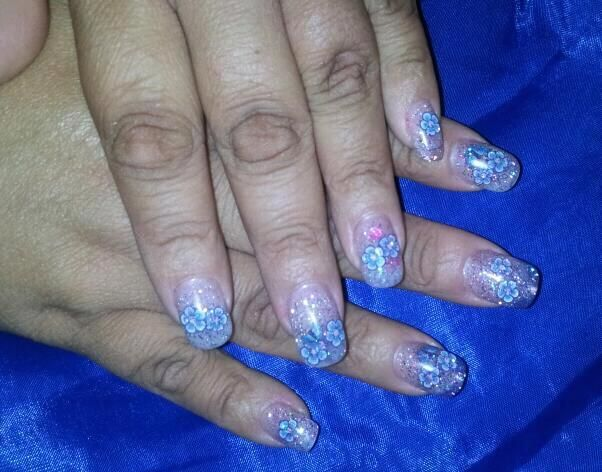 Springtime... yes I once had shorties. This was my nails growing back after chopping them for my LAST child!
