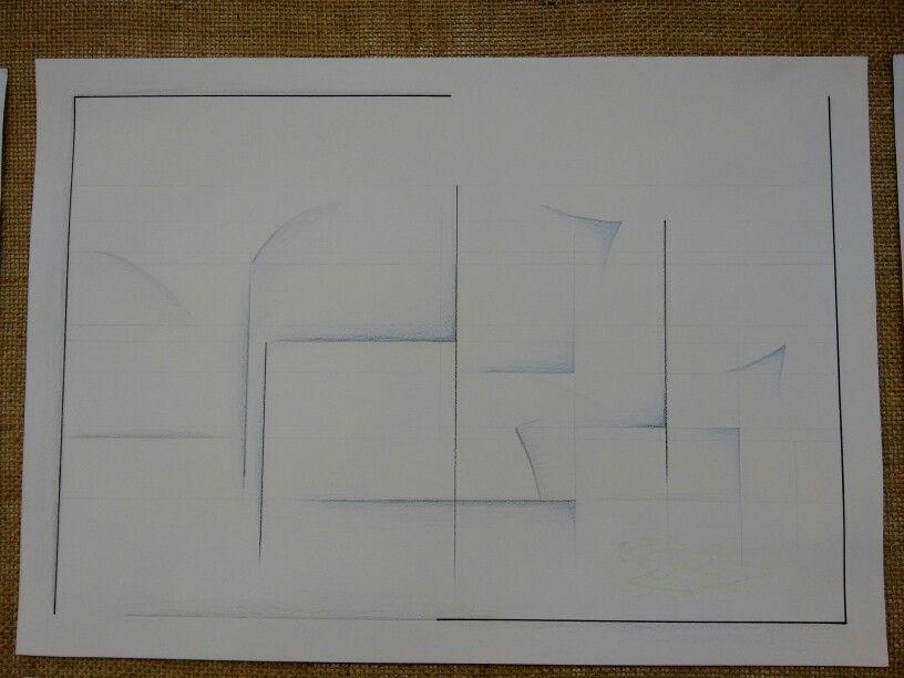 Arte abstrata inspirada na obra de Frank Gehry, Walt Disney Concert Hall Usei linhas retas verticais e horizontais para representar a minha ideia de ambiguidade e antônimo à obra de Frank, conceituado então com cor verde, para representar a vegetação presente na obra dele, e azul, para representar confiança e superioridade, também o reflexo do céu no material que reveste a obra. A margem descontinuada para mostrar que as obras, a arte, as ideias e tudo que envolve a arte são ilimitadas e que…