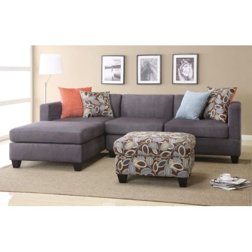 Found It At Wayfair Alvin Reversible Chaise Sectional Sectional Sofa With Chaise Microfiber Sectional Sofa Grey Sectional Sofa