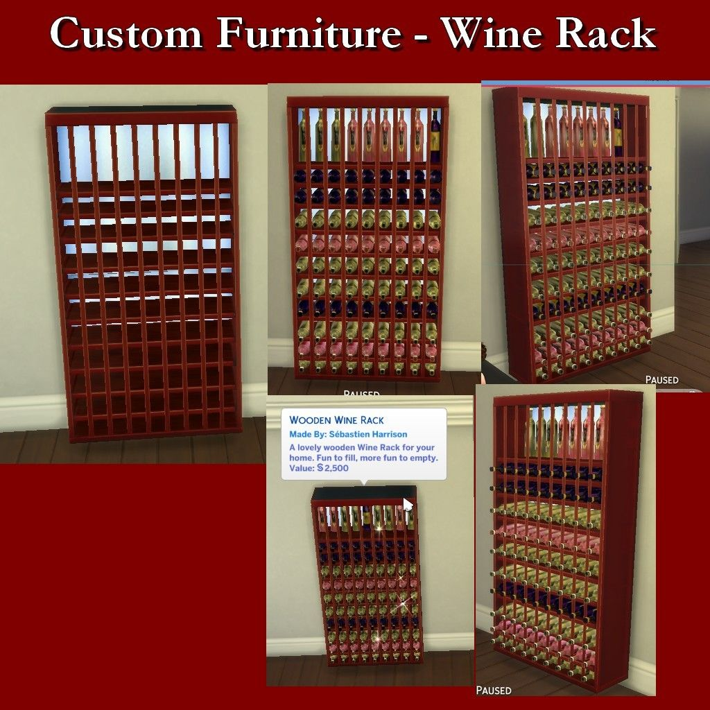 Lana Cc Finds Wine White Zinfandel By Leniad Sims 4 This Sims Sims 4 Wooden Wine Rack