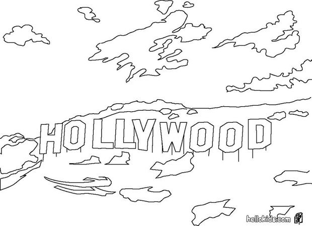 Hollywood Coloring Pages For Kids