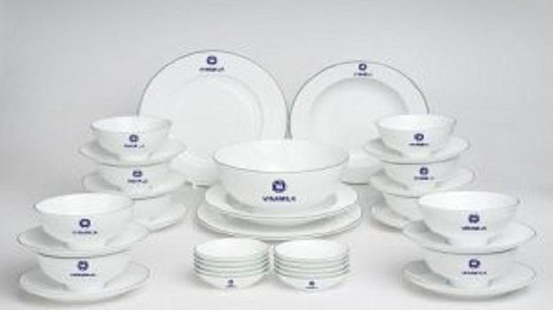 Bộ Đồ Ăn Minh Long 35 Sp In Logo VinamilkNhững mẫu quà