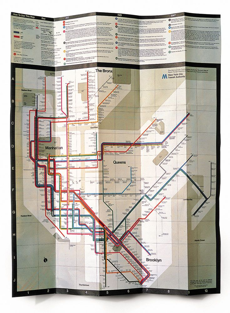 New York City Navigating Subway Map.Massimo Vignelli Navigation System Of The New York Subway 1966