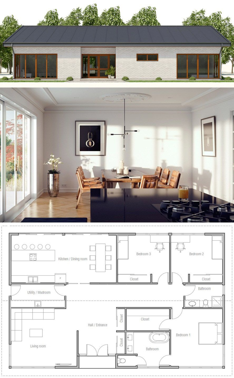 House plan | ev planı | Pinterest | House, Smallest house and Tiny ...