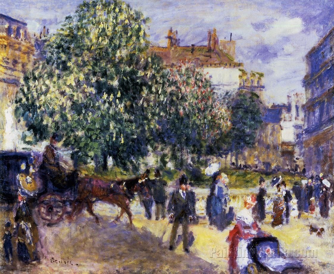 Place de la Trinite, Paris 1 by Pierre-Auguste Renoir 1875