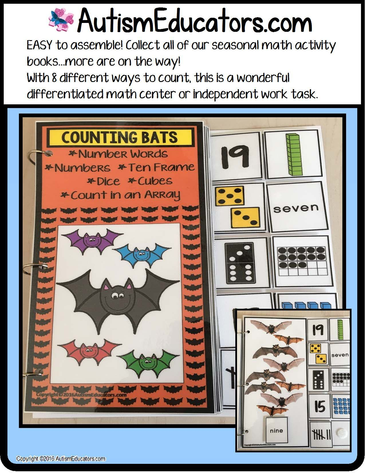 Bats Counting Up To 20 With Data And Iep Goals