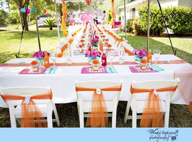 The Cutest Pink and Orange Baby Shower Party favour ideas