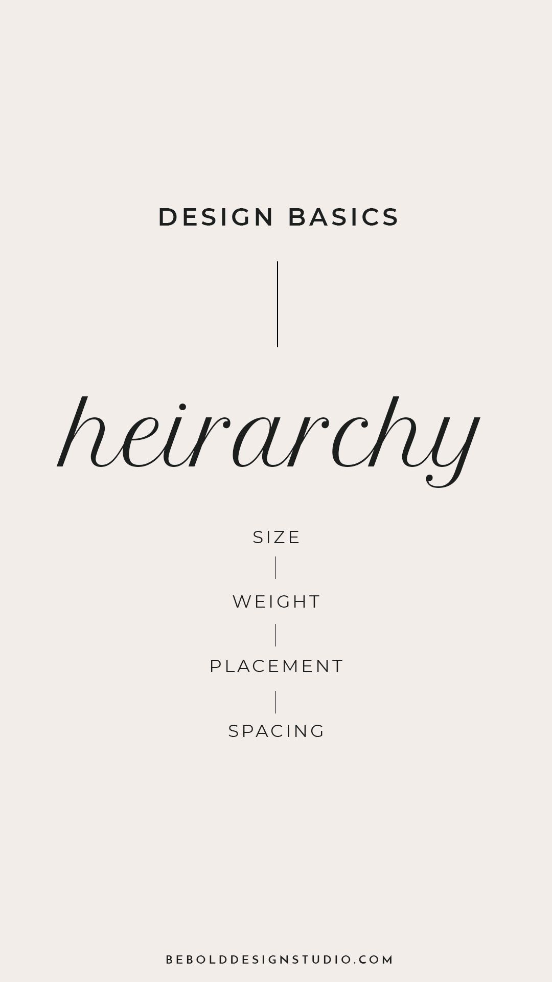 Type Hierarchy Design Basics Tips Be Bold Design Studio Hierarchy Design Design Basics Graphic Design Tips