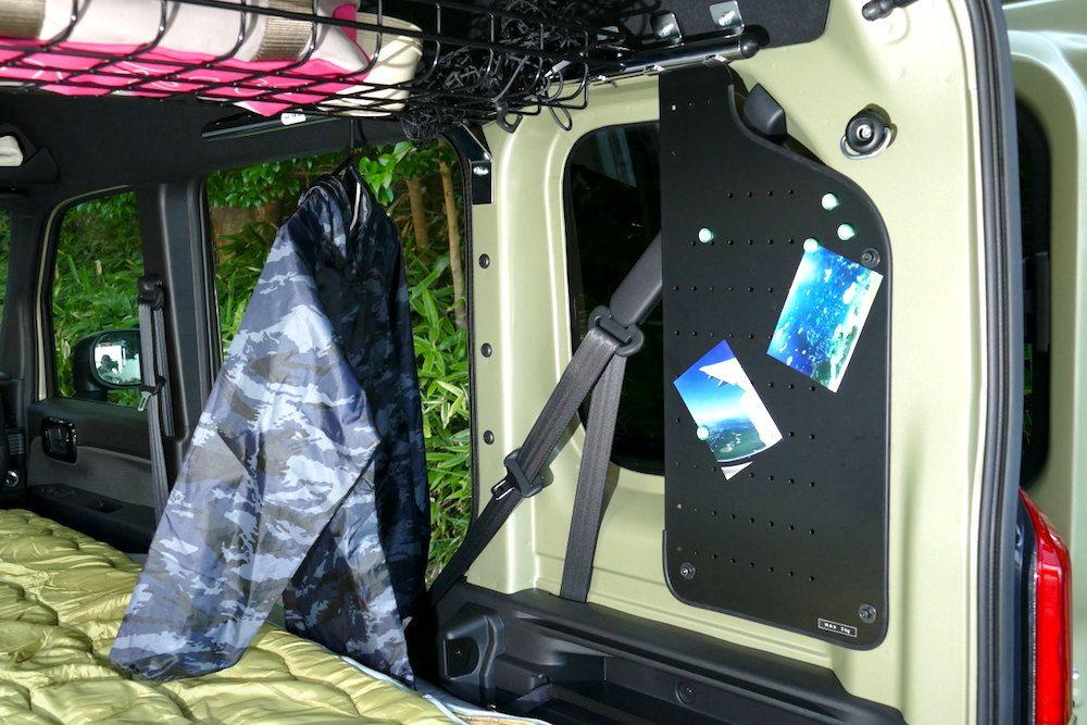 ホンダ N Vanの車中泊仕様を拝見 居住性をグッと上げる 多彩なアクセサリーに注目 アウトドアファッションのgo Out Web ホンダ N 車中泊 車 カスタム