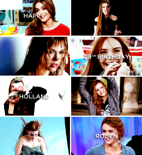 Happy 29th Birthday, Holland Marie Roden. (October 7, 1986)