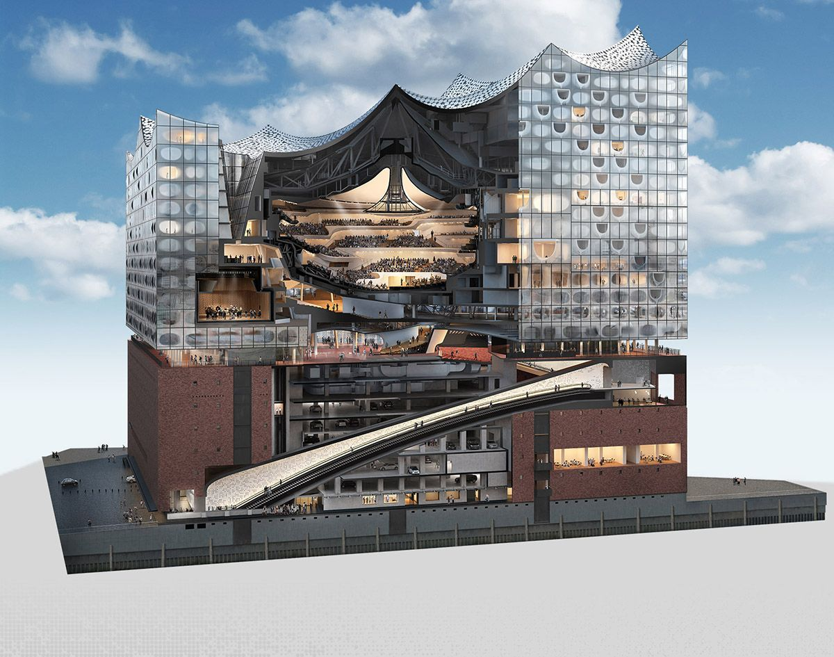 New Images Of Elbphilharmonie Hamburg By Herzog De Meuron Released Set To Open On January 2017 Architecture Concert Hall Architecture Architecture Design