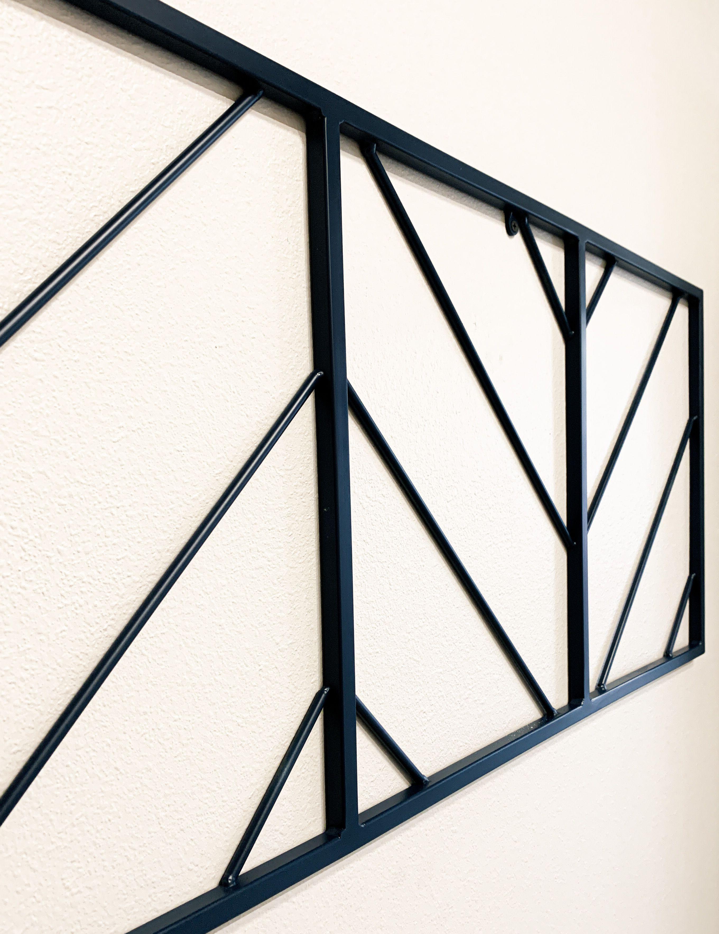 Chevron Herringbone Wall Art Decor Dimensions 48 Wide 18 Tall Herringbone Wall Art Metal Wall Art Wall Art Decor