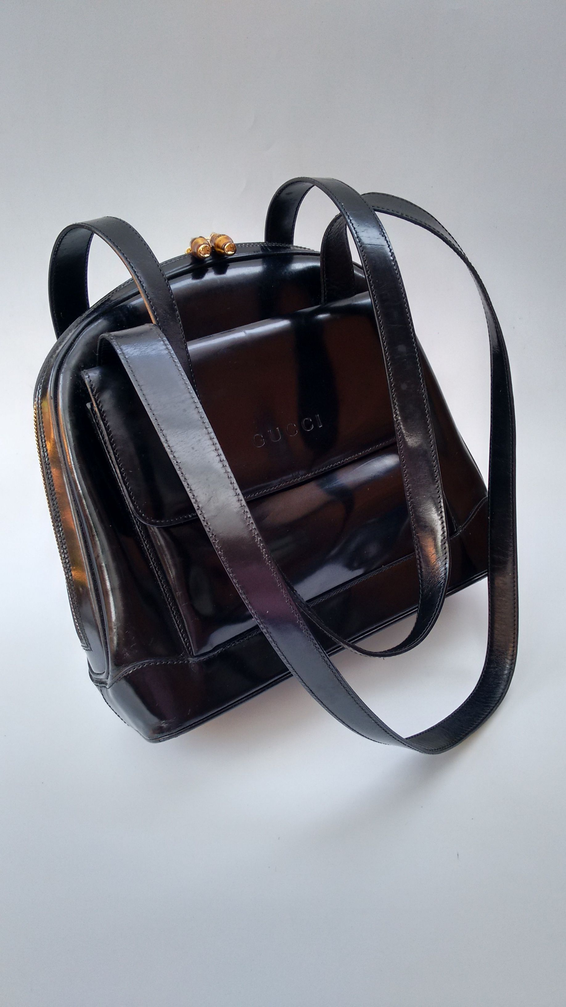 100% Authentic designer bags and jewellery! by Sophiashop123. GUCCI Bag. Gucci  Bamboo Vintage Black Leather Shoulder ... 923d747412