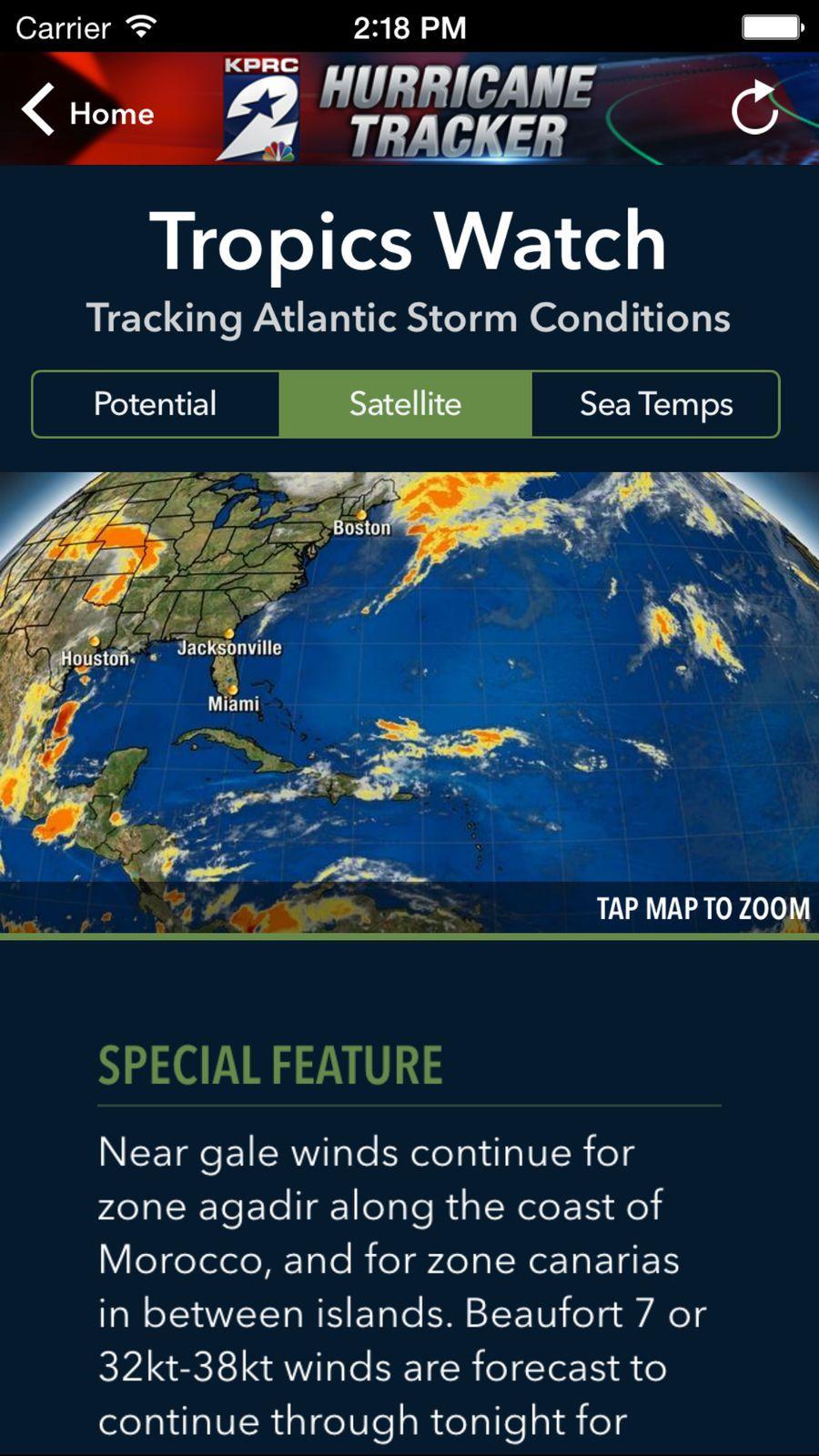 Kprc Hurricane Tracker Weather Group Ios News Hurricane Tracker Ios News