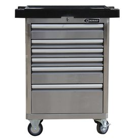 Shop Kobalt 40 In X 27 In 6 Drawer Ball Bearing Stainless Steel Tool Cabinet At Lowes Com Stainless Steel Tool Chest Metal Cart Stainless Steel Tools
