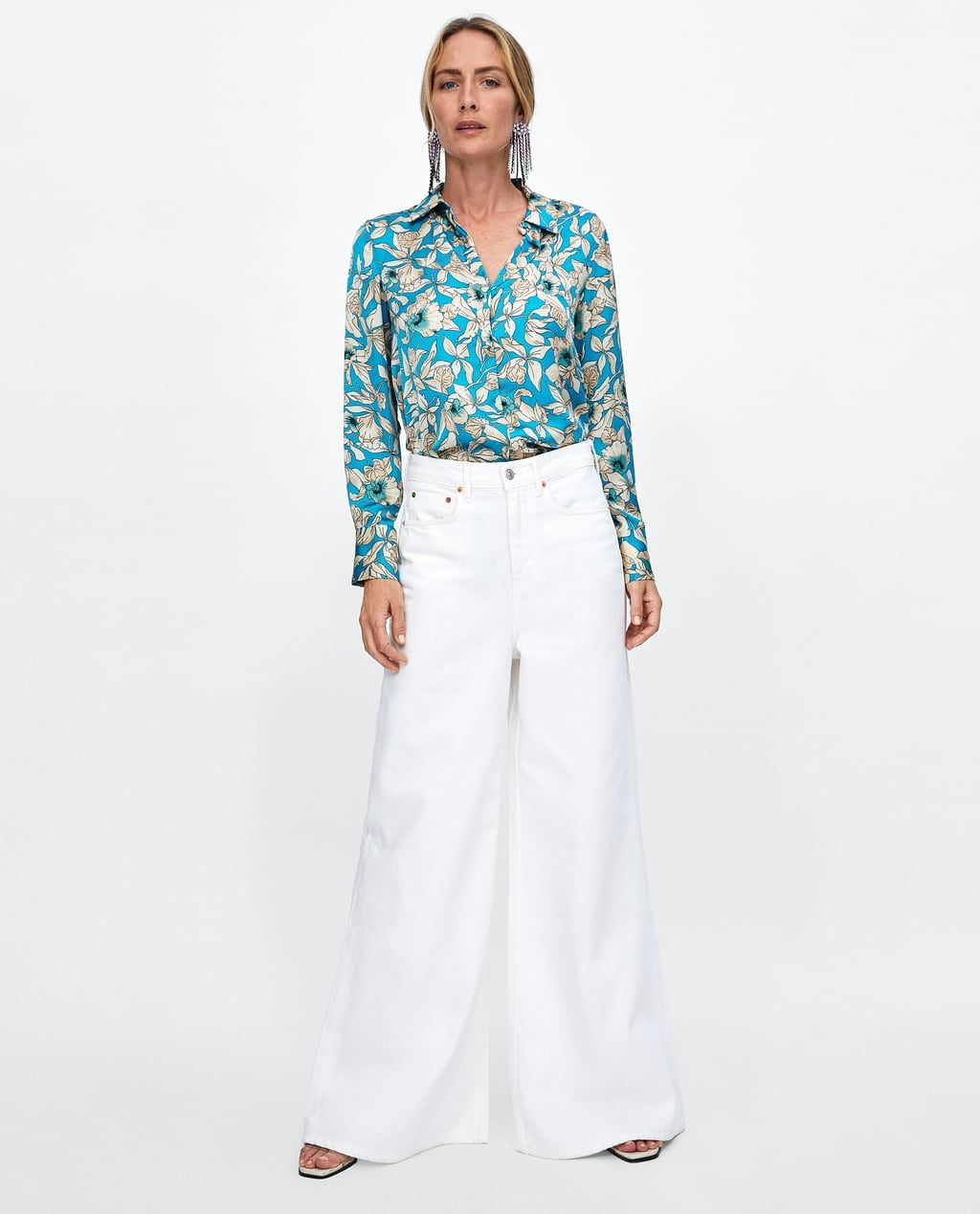 Camisa Satinada Estampado Floral Fashion Floral Print Shirt Clothes