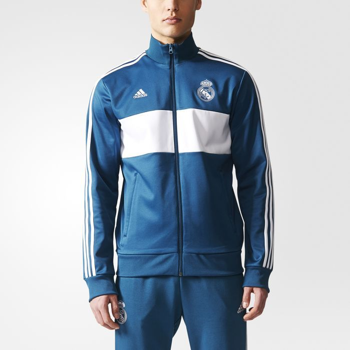 a328a1fc2 adidas Real Madrid 3-Stripes Track Jacket - Mens Soccer Jackets