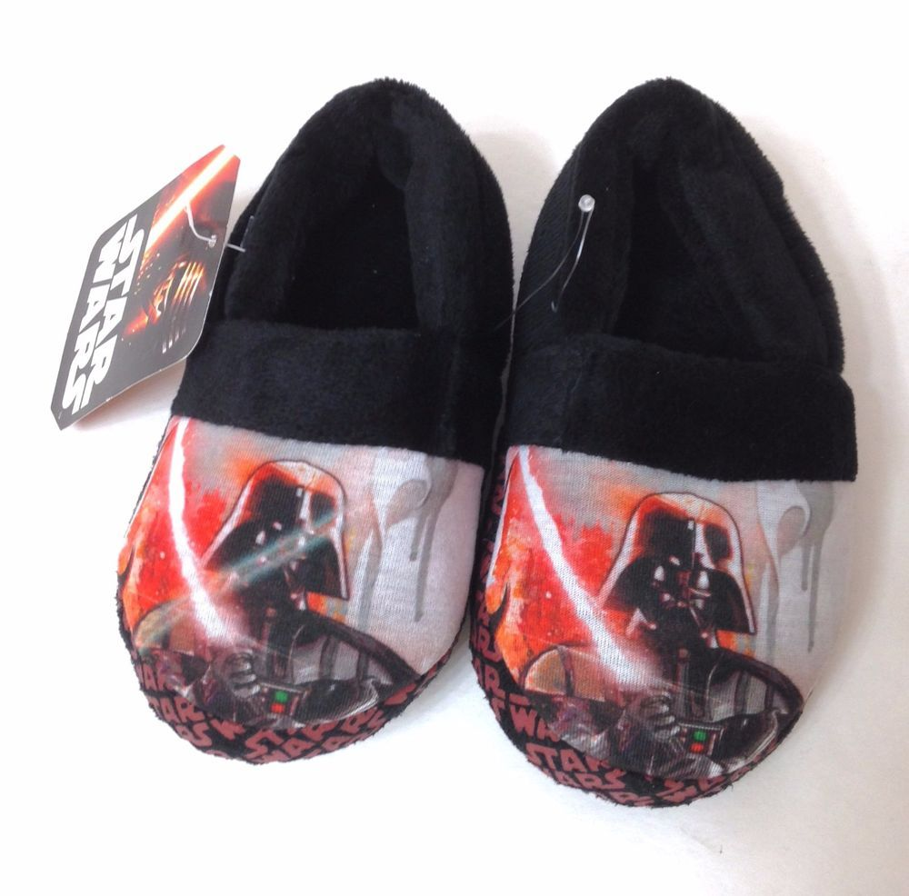 11f7ca2a518 YOUTH Boys Girls Kids (sm 7-8) DARTH VADER HOUSE SLIPPERS Star Wars ...