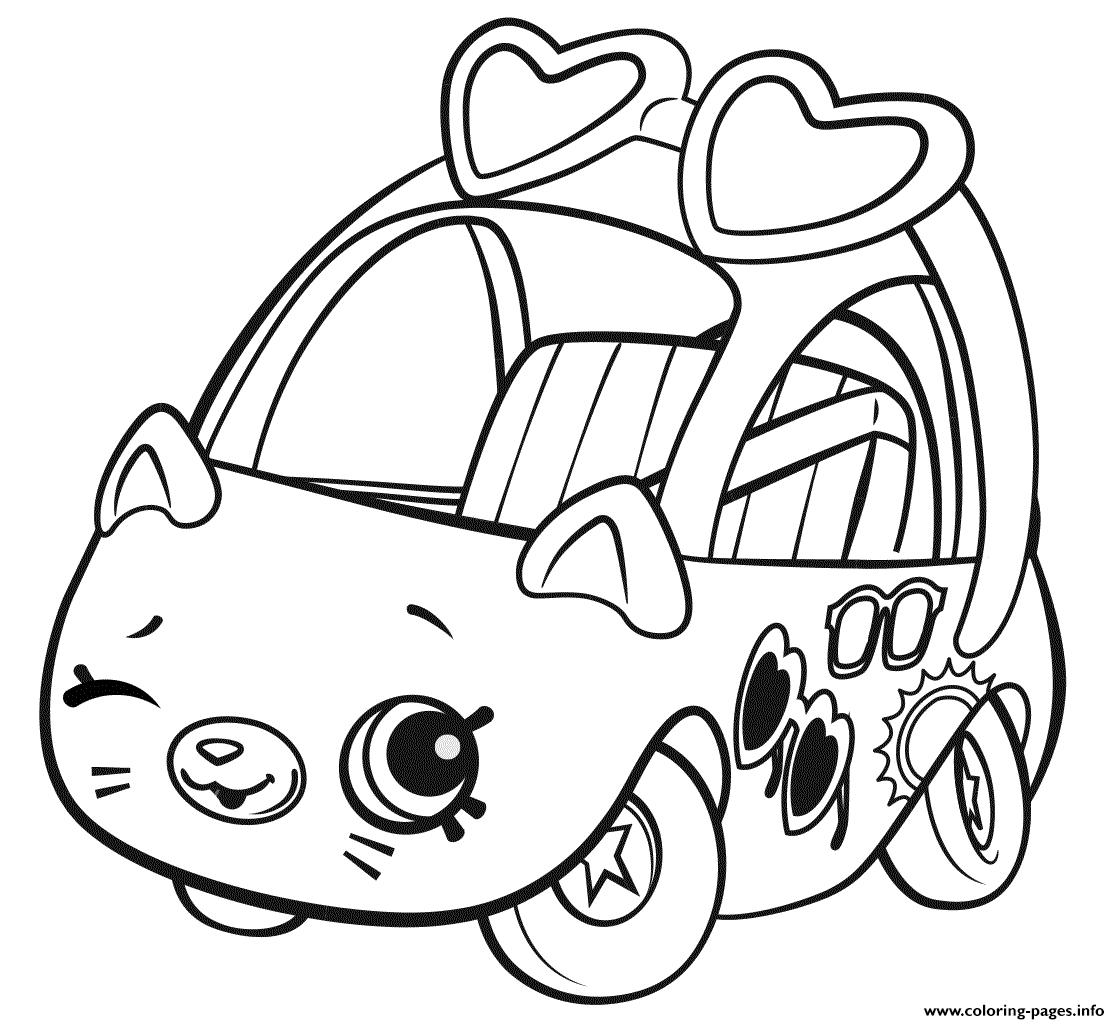 Print Shopkins Cutie Cars Sunny Sedan Coloring Pages Shopkins Colouring Pages Shopkins Coloring Pages Free Printable Cars Coloring Pages