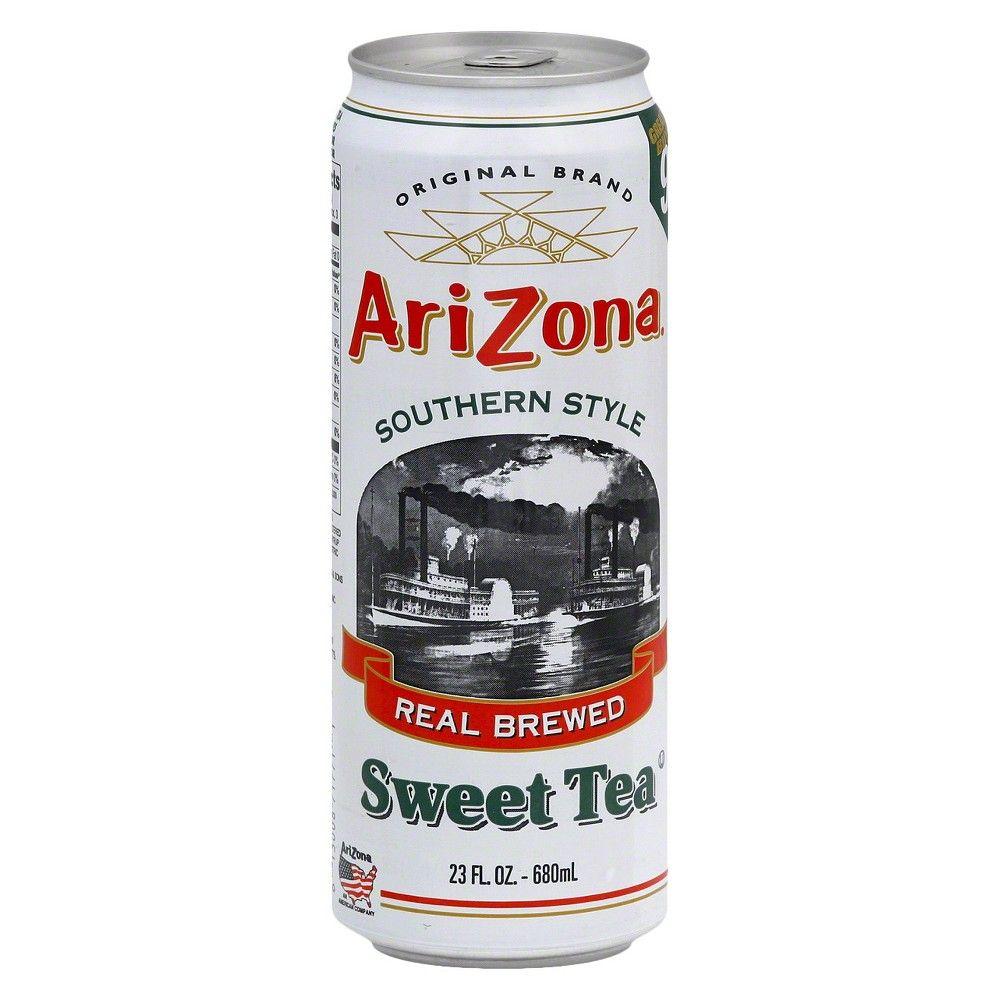 Arizona Southern Style Real Brewed Sweet Tea 23 Fl Oz Can Sweet Tea Arizona Arizona Green Teas