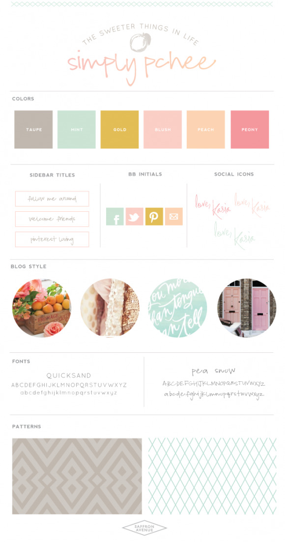 Blog Design: Simply Pchee - Saffron Avenue : Saffron Avenue